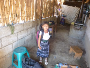 Juanity agetting ready for school